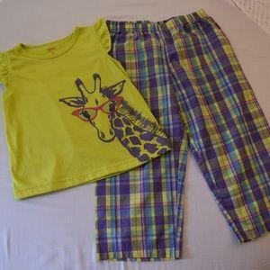 Girls short sleeve shirt with matching pants